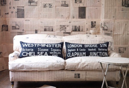 Barbara Coupe London cushions at ACHICA