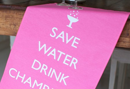 Save water, drink Champagne says Catherine Colebrook