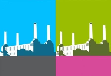 Battersea Power Station goes pop art