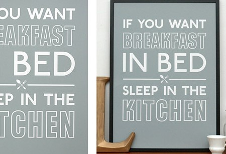 If you want breakfast in bed…