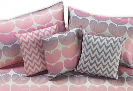ACHICA's candy coloured bespoke bed linen