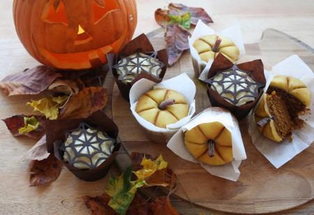 Spiced Pumpkin Halloween Cupcakes for autumn entertaining