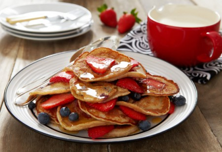 Celebrate Pancake Day with these delicious strawberry and blueberry pancakes