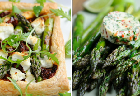 Celebrate the short but sweet British asparagus season with two tasty recipes