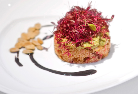 Tuck into this quinoa and beetroot dish from LA chef and health guru Ali Parvinjah