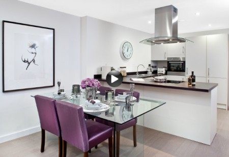 <b> Latest video: </b> Lush colours and glossy furnishings make up this contemporary flat
