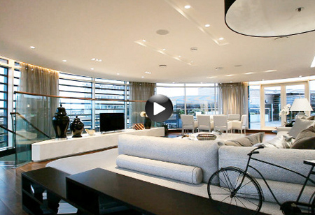 <b> House tours: </b> Admire the modern open design in this city penthouse
