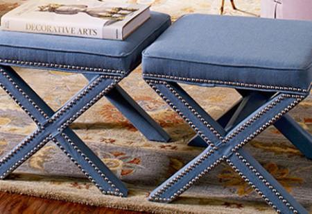 <b> Buy it Now: </b> The stylish Palmer Ottoman