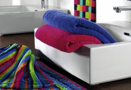 Add pop colour to your bathroom with Cawö towels