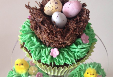 Enjoy these Easter Egg Nests and Cupcakes recipes