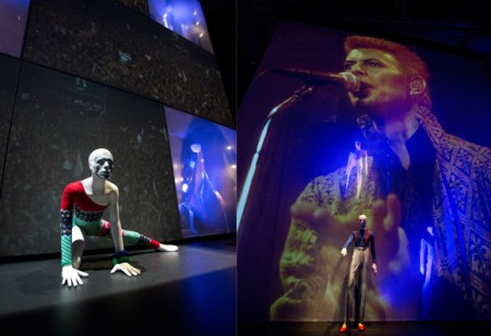 Inside the 'David Bowie is' exhibition at the V&A Museum
