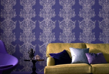 Add a touch of grandeur with damask wallpaper