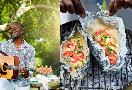 Levi Roots' Jamaican Coconut Baked Fish Parcels and Wild Rice recipes