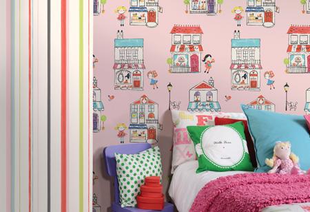 Cool children's bedroom wallpaper